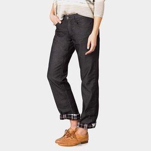 Prana flannel lined black Kara jeans 10x33